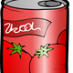 Tomato Juice Can Vector Clipart