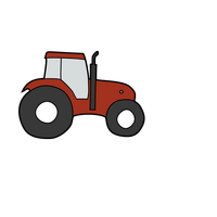 Tractor vehicle vector clipart