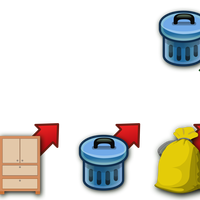 Trash Can Icons Vector Clipart Icon