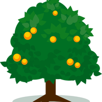 Tree with fruits vector art
