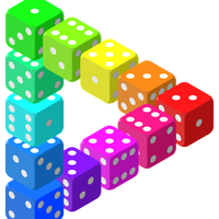 Triangle of Dice vector clipart