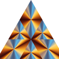 Triangle Prism Vector Graphic