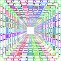 Tunnel with bright colors and patterns vector art