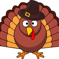 Turkey with Pilgrim Hat vector file