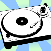 Turntable vector clipart