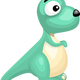 Turquoise Dinosaur Vector Clipart