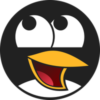 Tux Penguin Face Vector Art
