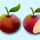 Two Apples Vector Clipart