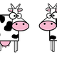 Two Cartoon Cows vector clipart