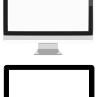 Two Computer Monitors Vector Clipart
