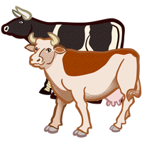 Two Cows Vector graphics