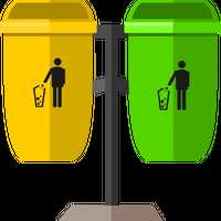 Two Trashcans Vector Clipart