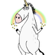 Unicorn with Rainbow vector clipart