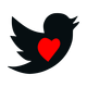 Valentine's Day Tweet Vector Clipart