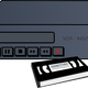 VCR and Tapes vector clipart