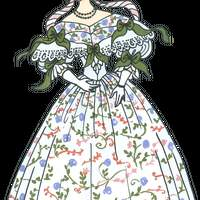 Vintage Woman's Ball Gown vector file