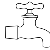 Water Faucet Vector Clipart