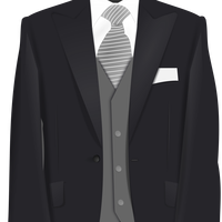Wedding Suit Vector Clipart