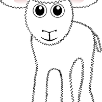 White Lamb Vector Clipart