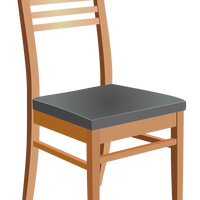 Wooden Chair Vector Art.