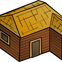 Wooden House Vector Clipart