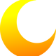 Yellow Crescent Half Moon Vector Clipart