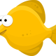 Yellow Fish Cartoon Vector Clipart