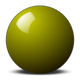 Yellow Snooker Ball vector file