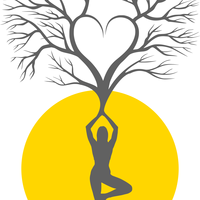 Yoga Tree Silhouette Vector Clipart