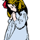 Young Girl Praying Vector Clipart