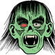 Zombie Face Vector Clipart