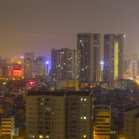 Night Cityscape in Hanoi, Vietnam