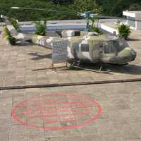Helicopter on the roof of Reunification palace