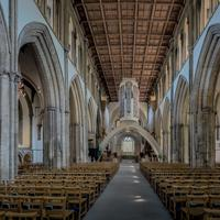 Llandaff Cathedral Nave in Cardiff