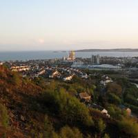 Landscape and cityscape view of Swansea