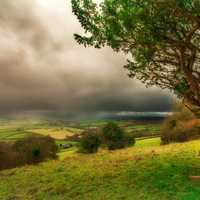 Landscape around Monmouthshire, Wales