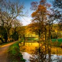 Lovely Morning by Mon and Brecon Canal in Wales