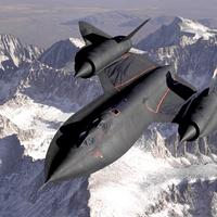 Black SR-71 Blackbird supersonic Jet