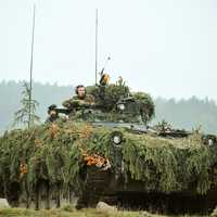 Camoflauge Tank in the field