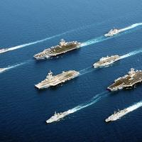 Fleet of Navy Ships