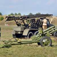 Truck and Artillery