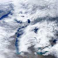 Cloud Cover over the Great Lakes weather